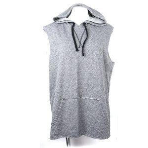 Brooklyn Cloth Sleeveless Hoodie Grey Large
